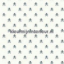 Skeletjes wit zwart wallcovering Eijffinger Hits 4 Kids 351765
