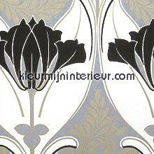 Art deco tulp behang Casamance behang