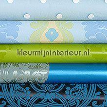 Knutselpakket turquoise-groen tapet wallpaperkit