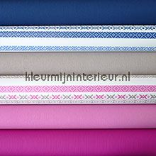 Knutselpakket Bont blauw-roze tapet wallpaperkit