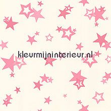 Sterren met glitters RU8147  behang Girl Power van York Wallcoverings ...