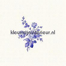 Delfst blauw muurbloempje behang Esta home behang