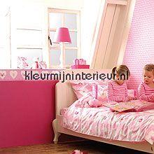 Uni fuchsia papier behang Esta for Kids uni kleuren