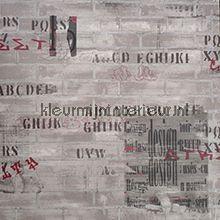 Muur met teksten tapeten Noordwand Les Aventures 4 12103107