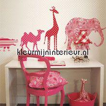 Animals - pink behang Esta for Kids Baby Peuter