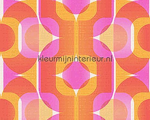 Beroemd Retro oranje/roze 95528-4 behang Retro Vision AS Creation #IH85