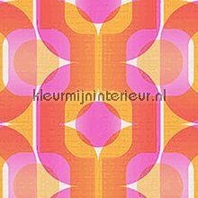 Retro oranje/roze behang AS Creation Retro Vision 95528-4