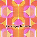 Retro oranje/roze Retro Vision as creation