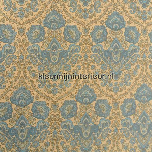 Blue charm vintage tapet 713502 Vintage - Gamle Kleurmijninterieur