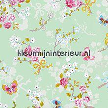 pip chinese rose green behang Eijffinger Pip Wallpaper IV 375073