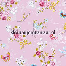 pip chinese rose pink behang Eijffinger PiP Wallpaper 386032