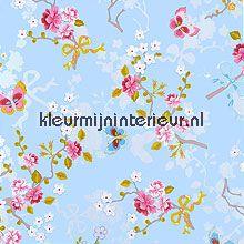 pip chinese rose blue fotobehang Eijffinger PiP Wallpaper 386031