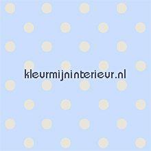 pip dots blue behang Eijffinger PiP Wallpaper 386055