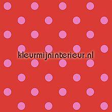 pip dots red behang Eijffinger PiP Wallpaper 386054