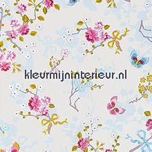 pip chinese rose white fotobehang Eijffinger PiP Wallpaper 386030