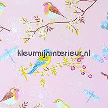 pip early bird pink wallcovering Eijffinger PiP Wallpaper 386012