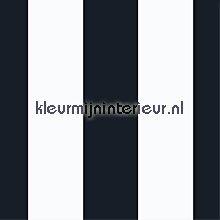 Brede zwart-wit streep papel de parede Noordwand Assorti 52133