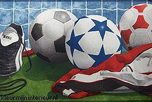 Behang Kinderkamer Voetbal : Voetbal rand behang sandpiper sports 2 kleurmijninterieur.nl