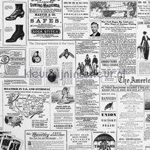 Newspapers behang Eijffinger zwart wit