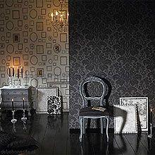 Zwart antraciet behang 397652 behang Black & white Eijffinger ...