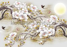 Eastern blossoms papier murales Kleurmijninterieur structures