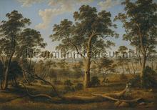 Landscape with trees fototapet Kleurmijninterieur stemning