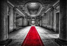 Red carpet in a palace papier murales Kleurmijninterieur structures