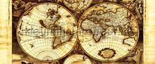 Oude wereldkaart fototapet Kleurmijninterieur verdenskort