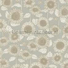 Sunflowers carta da parati Kleurmijninterieur tinta unita