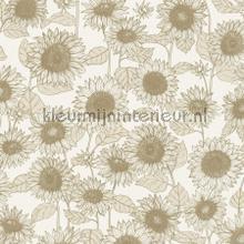 Sunflowers licht metallic carta da parati Kleurmijninterieur tinta unita