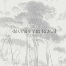 Italian landscape trees lichtgrijs tapet Kleurmijninterieur All-images