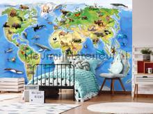 Childrens worldmap fotomurais Kleurmijninterieur selva