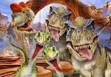 Dinosaurs looking at you fotobehang Kleurmijninterieur dieren