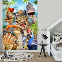 Dinosaurs looking at you fotobehang Kleurmijninterieur dino