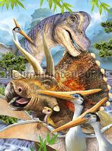 Prehistoric dinosaurs fotobehang Kleurmijninterieur dino