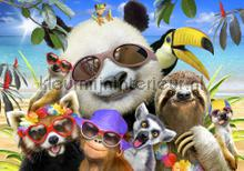Panda and her exotic friends fototapeten Kleurmijninterieur weltraum