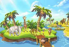 Animal island fotobehang Kleurmijninterieur babykamer