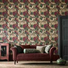 Acanthus papel pintado Morris and Co rayas
