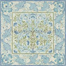 Wilhelmina indigo papel pintado Morris and Co rayas