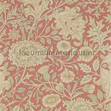 Double bough carmine red wallcovering Morris and Co Vintage- Old wallpaper