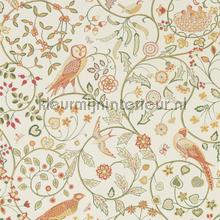 Newill ivory sage papel pintado Morris and Co rayas