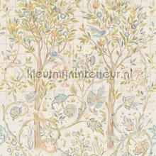 Melsetter ivory sage papel pintado Morris and Co rayas