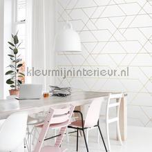 Diagonaal lijnenspel wallcovering Esta home Wallpaper creations