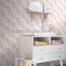 Abstracte driehoeken pastelkleurig wallcovering Esta home Wallpaper creations