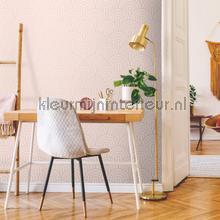 Artdeco boog vormen pastel roze wallcovering Esta home Wallpaper creations