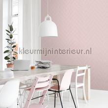 Visgraat ritme oud roze wallcovering Esta home Wallpaper creations