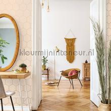 Honingraat ritme pastel zalm papier peint Esta home Wallpaper creations