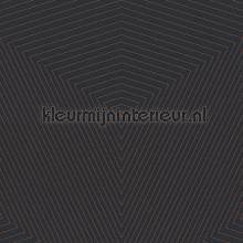 3d driehoeks diepte zwart koper tapet Kleurmijninterieur All-images
