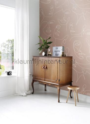 Line arte faces fotomurales 156-158960 Moderno - Abstracto Esta home