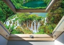 Waterfall window view fotomurais Kleurmijninterieur Todas-as-imagens